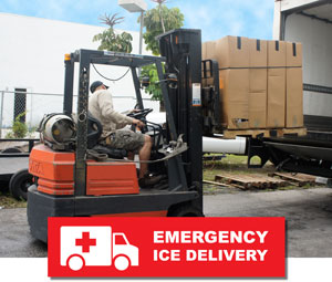 Emergency Ice Delivery